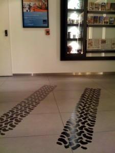 ホテルのロビーに出来たダカールコーナー